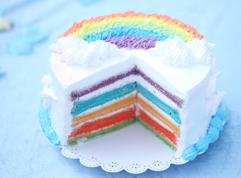青岛新东方学生作品——彩虹蛋糕