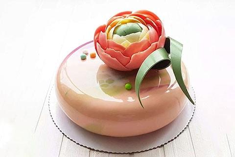 玫瑰花淋面蛋糕