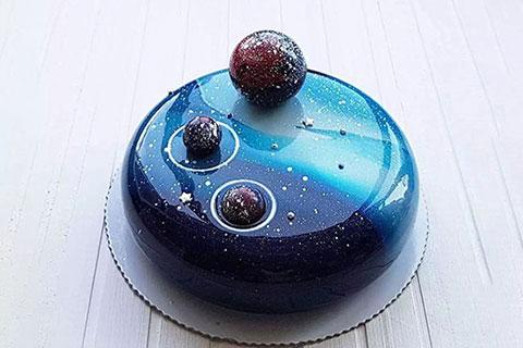 星空淋面蛋糕