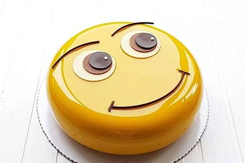 笑臉鏡面蛋糕