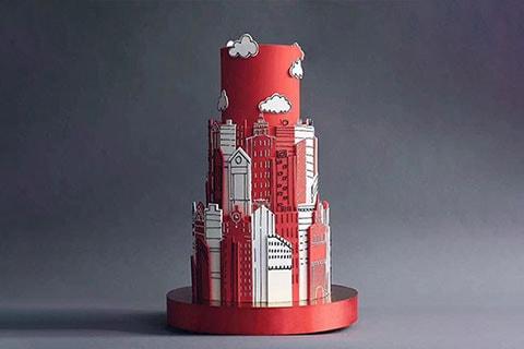 摩登大廈蛋糕